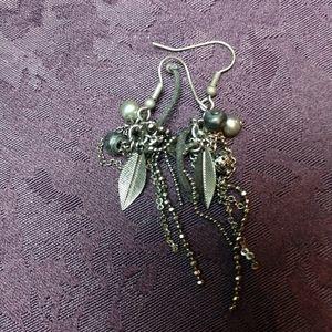 Swavoski Crystal dangle earrings silver OOAK